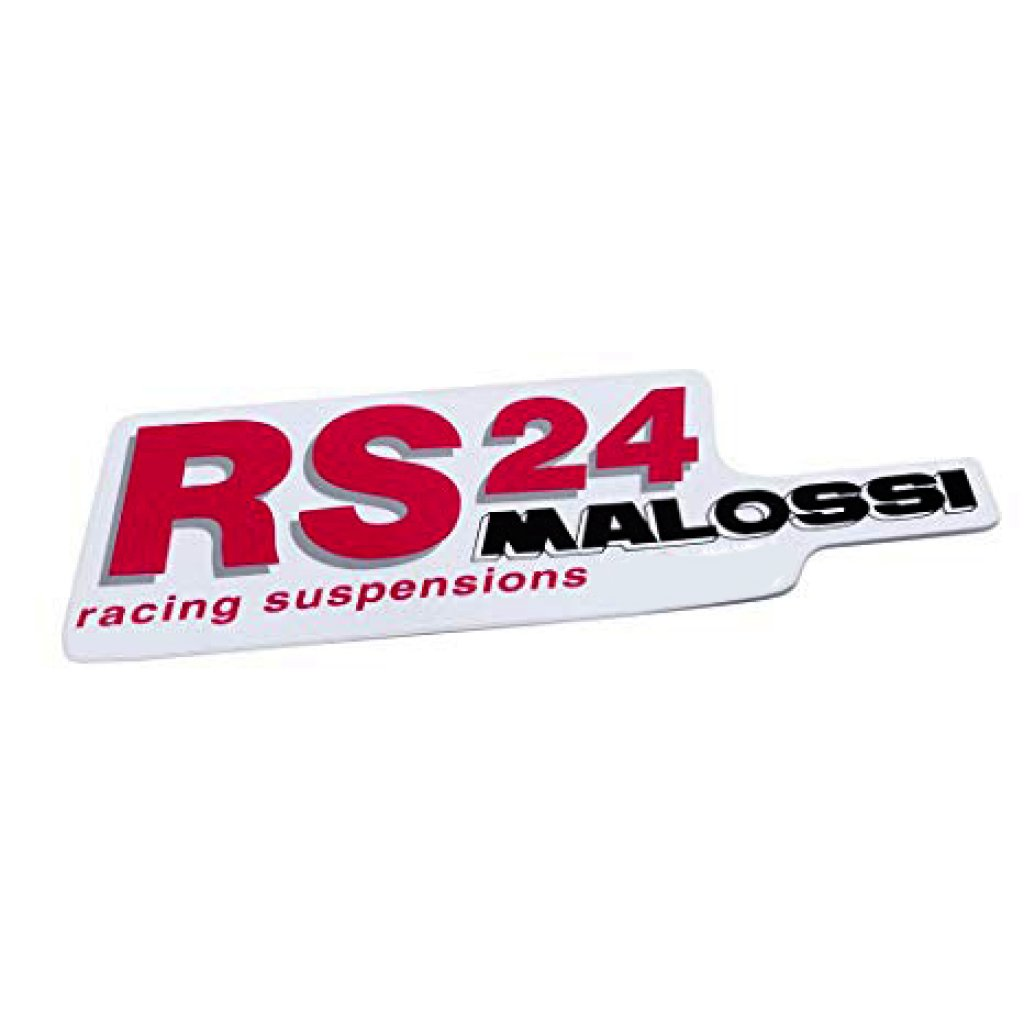 Adesivo Malossi RS24racing suspensions 144x45mm