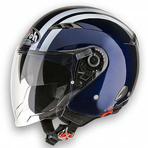 Casco jet Airoh City One blu scuro