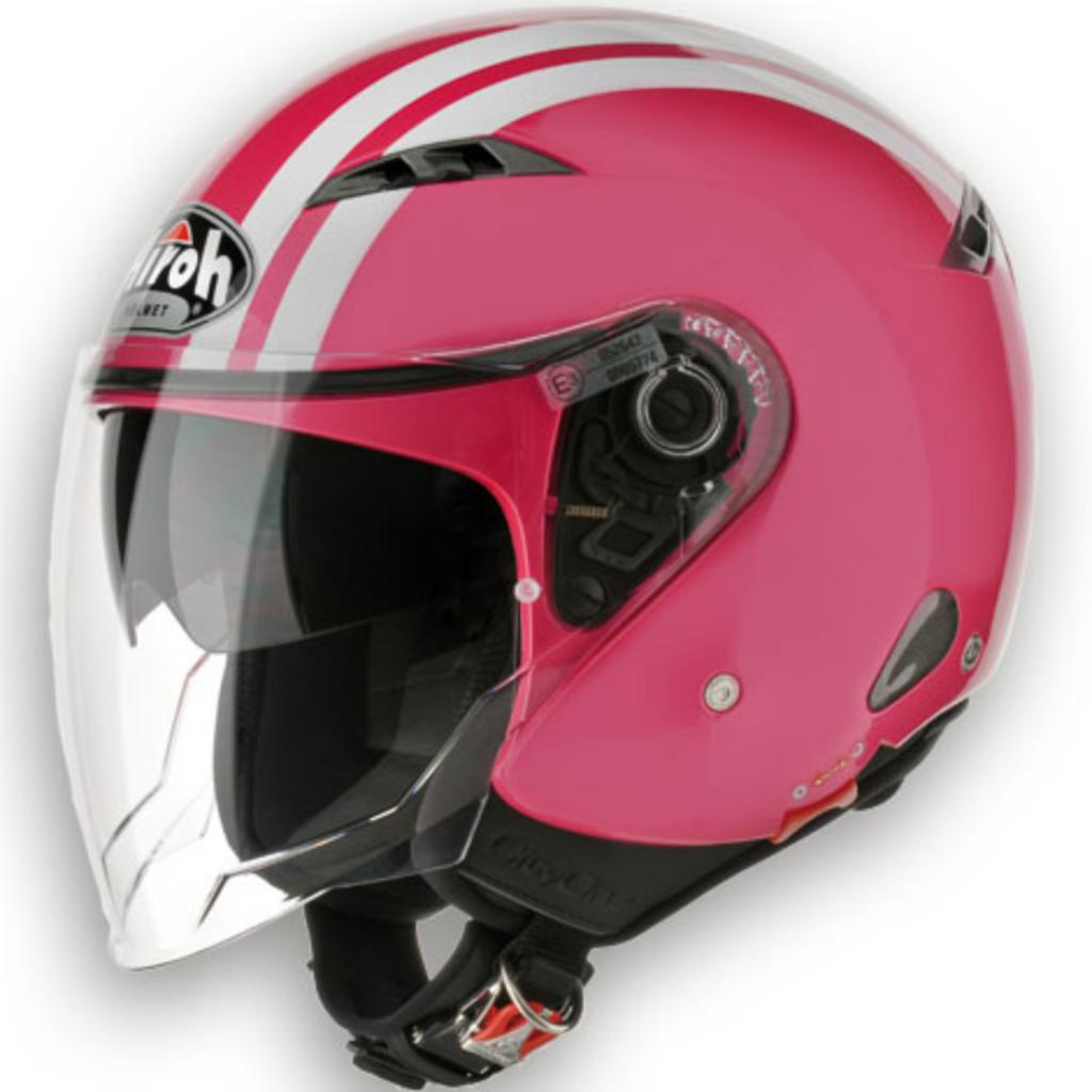 Casco jet Airoh City One Rosa